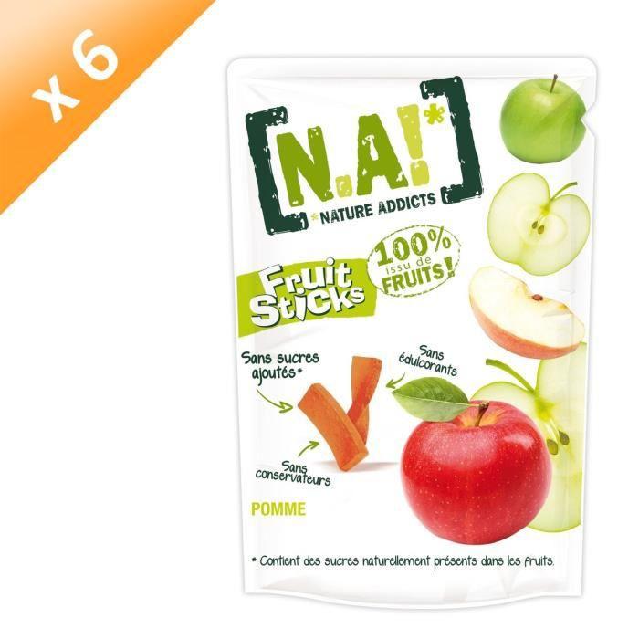 [LOT DE 6] N.A Fruit Sticks Doypack de Pomme - 40 g