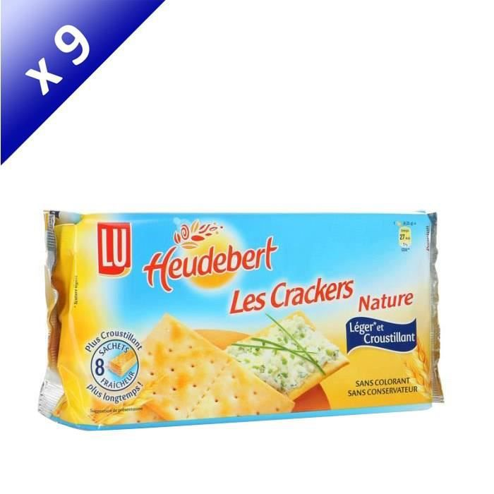 [LOT DE 9] Pain crackers 250 g Heudebert