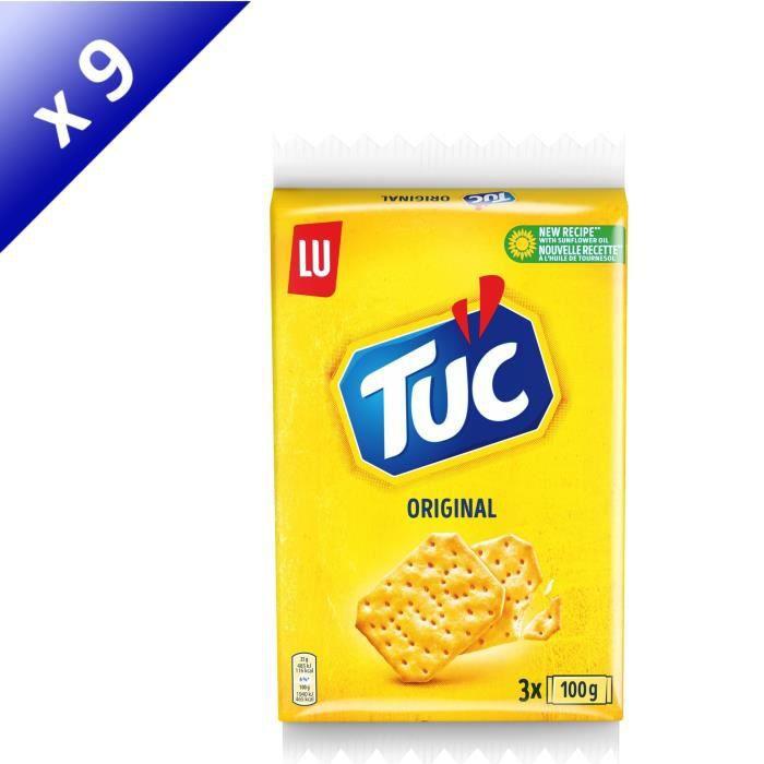 [LOT DE 9] Tuc Original Triopack 3x100g