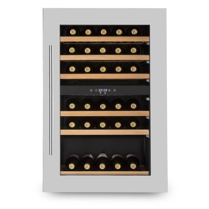 Klarstein Vinsider 35D Cave à vin encastrable 128L 41 bouteilles classe B