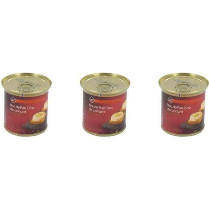 [Lot de 3] Bloc de foie gras de canard - 200g par boite