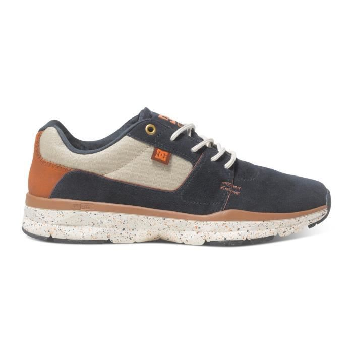 Chaussures homme DC PLAYER SE navy dk chocolate