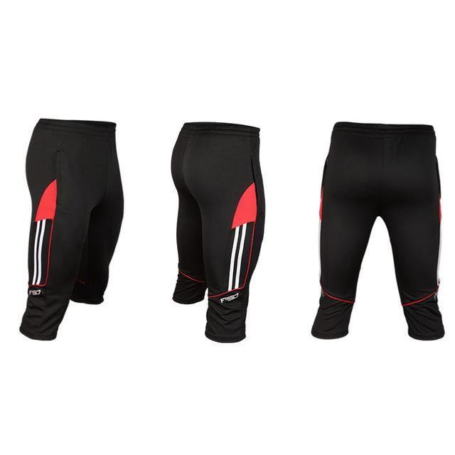Zencart Pantalon De Formation De Football Pour Hommes Jogging Running Valise Fermeture à Glissière Poche 3/4 Pantalons