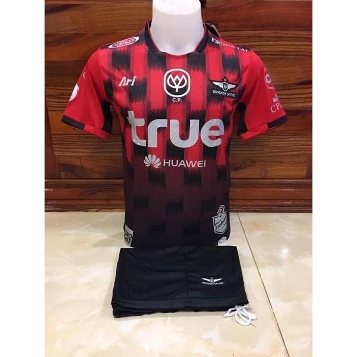 Football Equipe Thailande Maillot Officiel Short BANGKOK UNITED FC, Couleur: Rouge, Taille: L