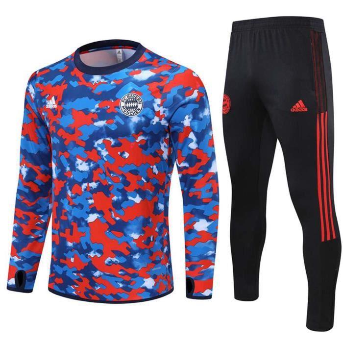 Bayern Munich 2021 2022 Survêtements Foot Homme Enfants Maillot de Football - Bleu
