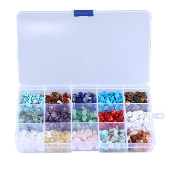 1 boîte fournitures de fabrication de bijoux pierre naturelle kit de perles en vrac de pierres BRACELET - GOURMETTE - JONC
