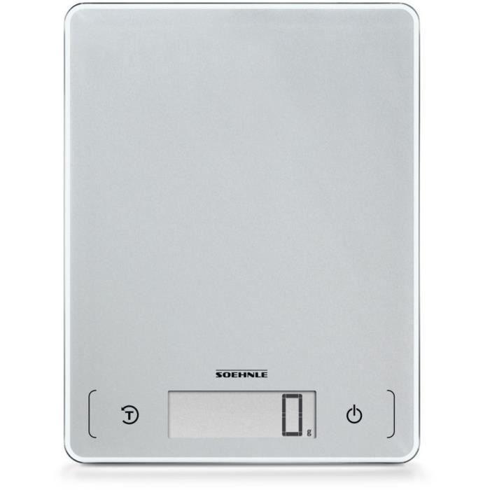 SOEHNLE - 61504 - BALANCE ELECTRONIQUE 10KG/1G - COLORIS SILVER