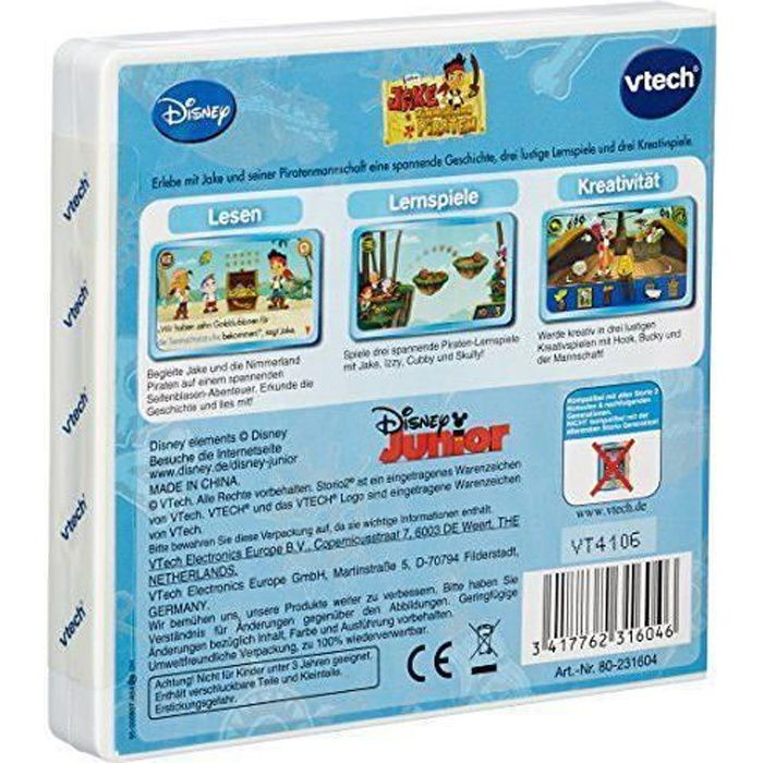VTech - Jeu Educatif - 2 Storio Jeu D`Apprentissage - Jake And The Neverland Pirates - 80-231604