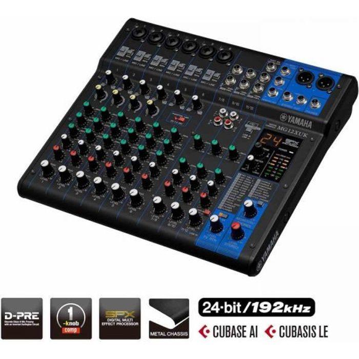 Yamaha MG12XUK - Table de mixage à boutons avec effets