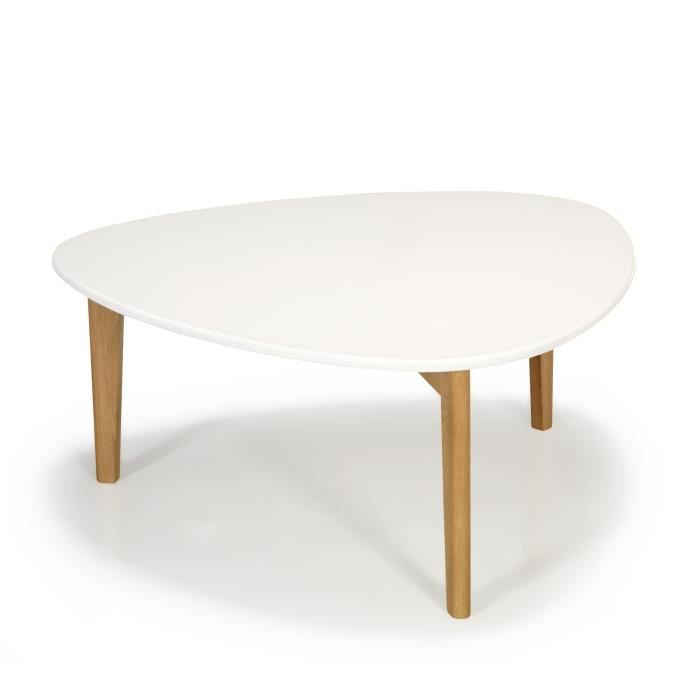 Siwa table basse vintage scandinave blanche 80cm achat - Table basse blanche scandinave ...