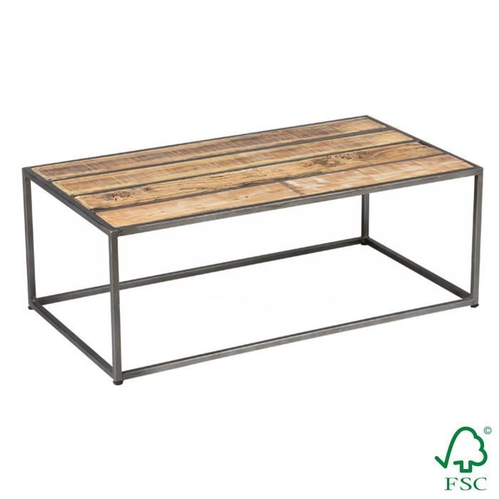 Indus Table Basse Rectangulaire Gris Achat Vente Table Basse