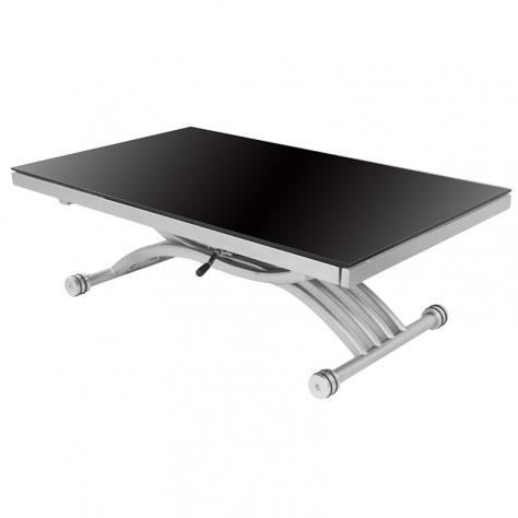 Table basse relevable extensible noir et blanc studio - Table basse relevable cdiscount ...