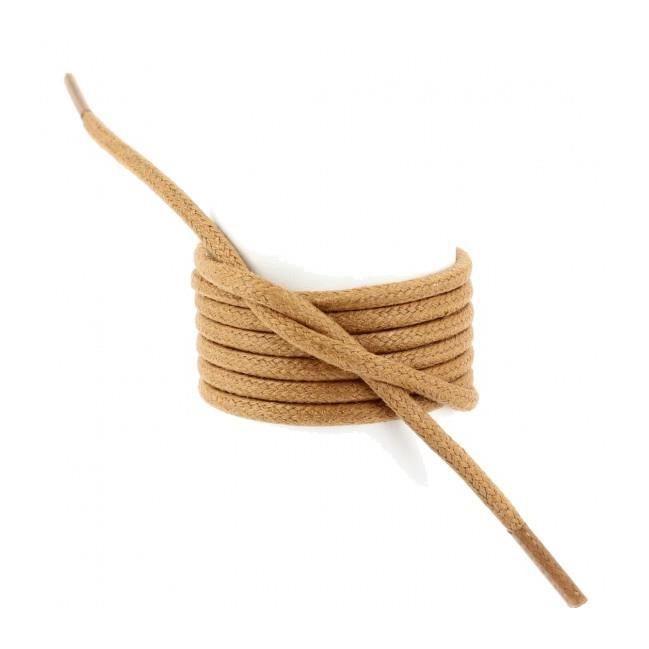 ronds ciré épais 3mm lacets Marron chameauTaille150cm Unique coton couleur 9IHED2