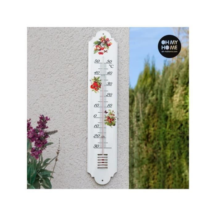 Grand thermometre exterieur achat vente grand for Thermometre geant exterieur