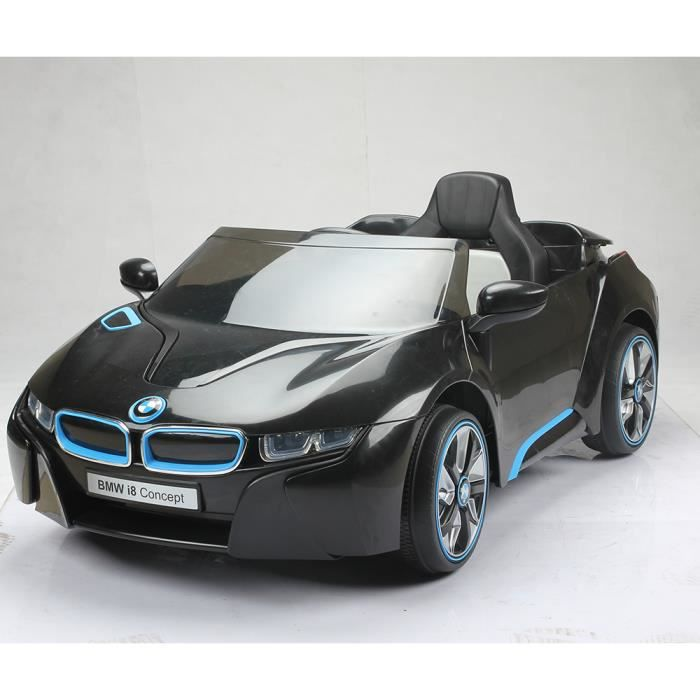 voiture lectrique enfant radiocommande bmw i8 noir. Black Bedroom Furniture Sets. Home Design Ideas