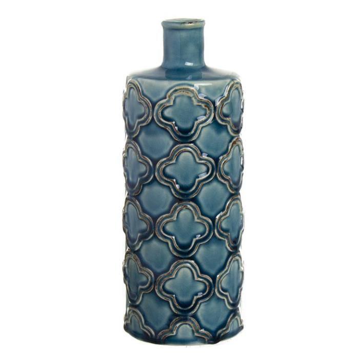 VASE - SOLIFLORE Vase pour Violette Ceramique bleu 24 cm - Couleur: