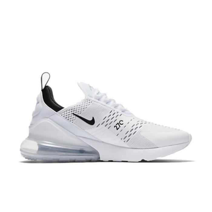 new product 71424 61e6a Baskets Nike Air Max 270 Homme Femme Baskets Chaussures AH8050-001 Blanc- Noir