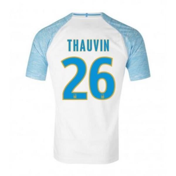 2018/19 Florian Thauvin NO.26 Olympique de Marseille Homme Maillot de Football OM Tops.