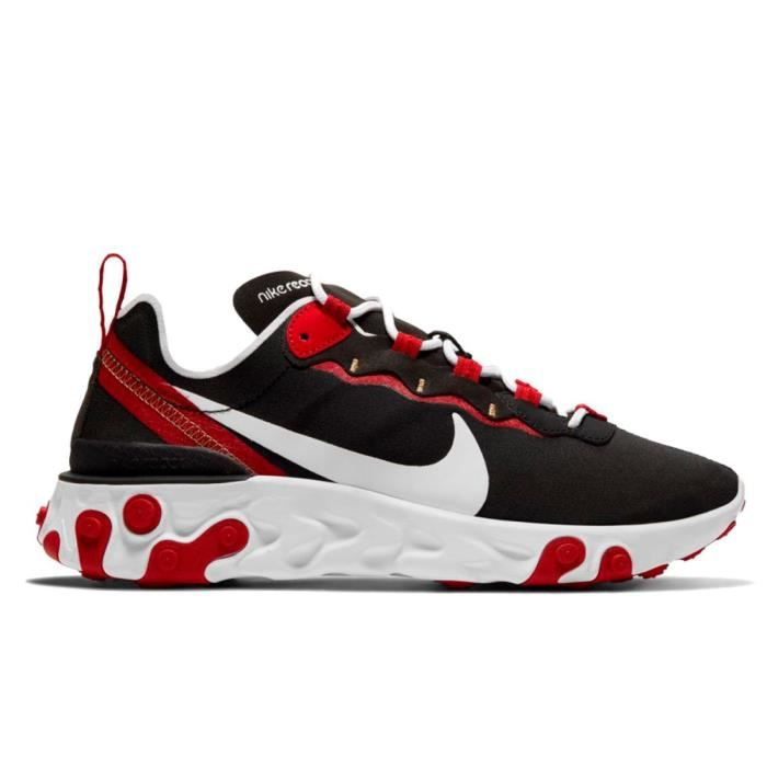 Basket Nike React Element 55 - BQ2728-009 Noir - Cdiscount Chaussures
