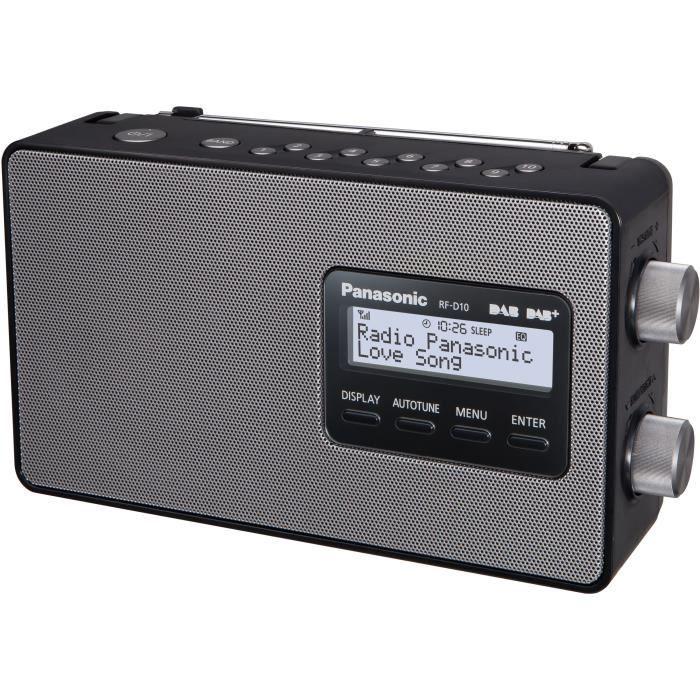RADIO CD CASSETTE PANASONIC D10 Radio FM, DAB/DAB+ - 2 W - Noir