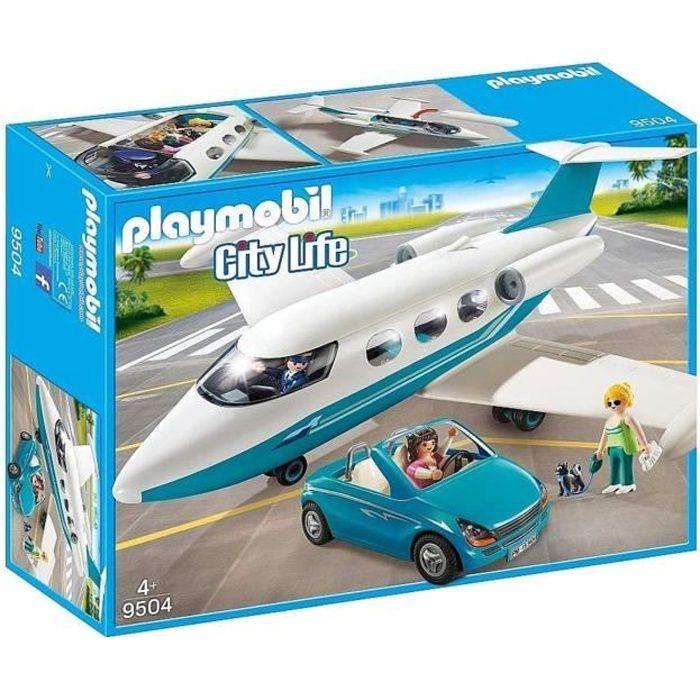 Photo de playmobil-9504-jet-avec-vacancieres-et-voiture