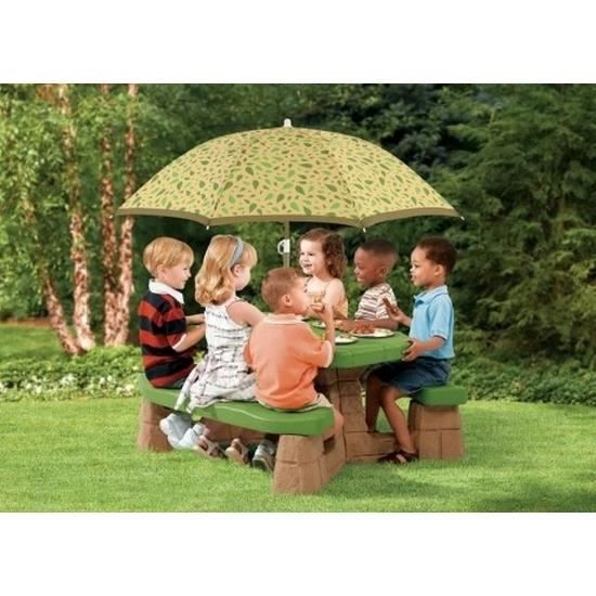 table de pique nique avec parasol enfants achat vente parasol table de pique nique avec p. Black Bedroom Furniture Sets. Home Design Ideas