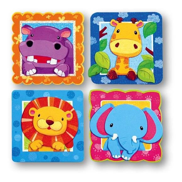 zoo stickers muraux relief enfant 30x30cm achat vente stickers cdiscount