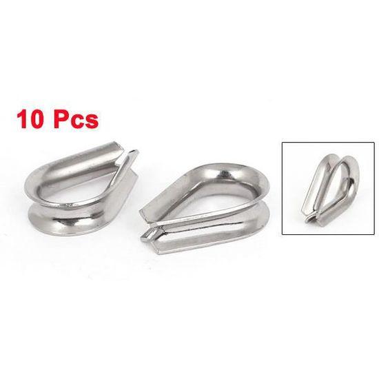 """Acier inoxydable 5mm 3//16/""""norme de corde Fil Cosses 10pcs Gréement câble outils"""