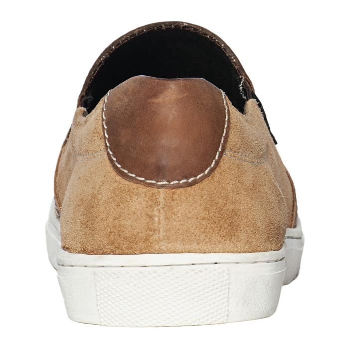 Chestnut on Choppers Chaussures Suede Coast Brun Slip Outlaw West PqTx5p0w