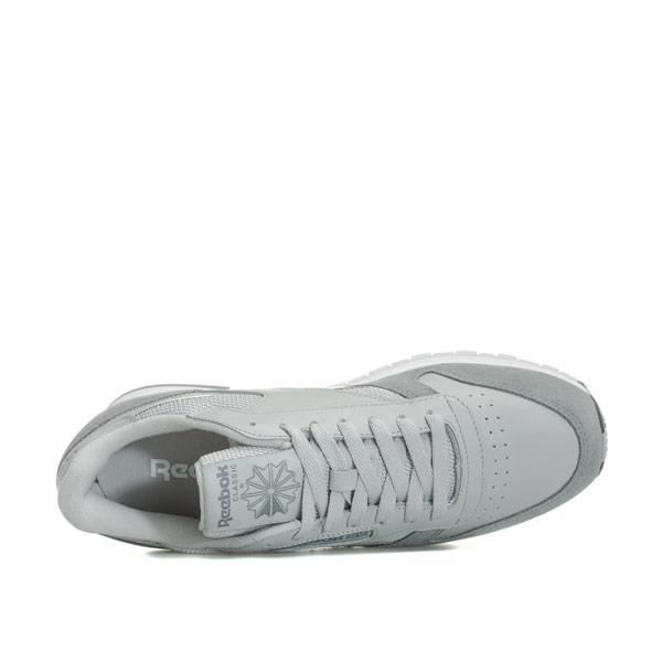 Baskets Reebok Cl Leather Mo Gris Clair Homme