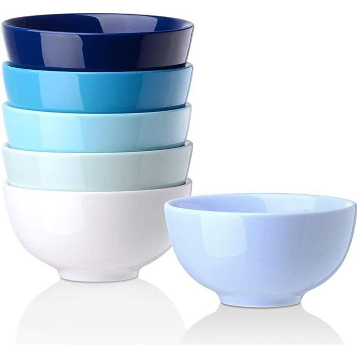 """Bol à céréales 15 cm la belle /""""BLANC/"""" Frise porcelaine"""