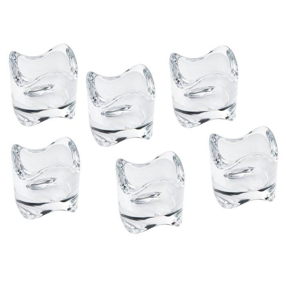 Idee Deco Pour Grand Vase Transparent 6 photophores en verre transparent idée déco bougeoir