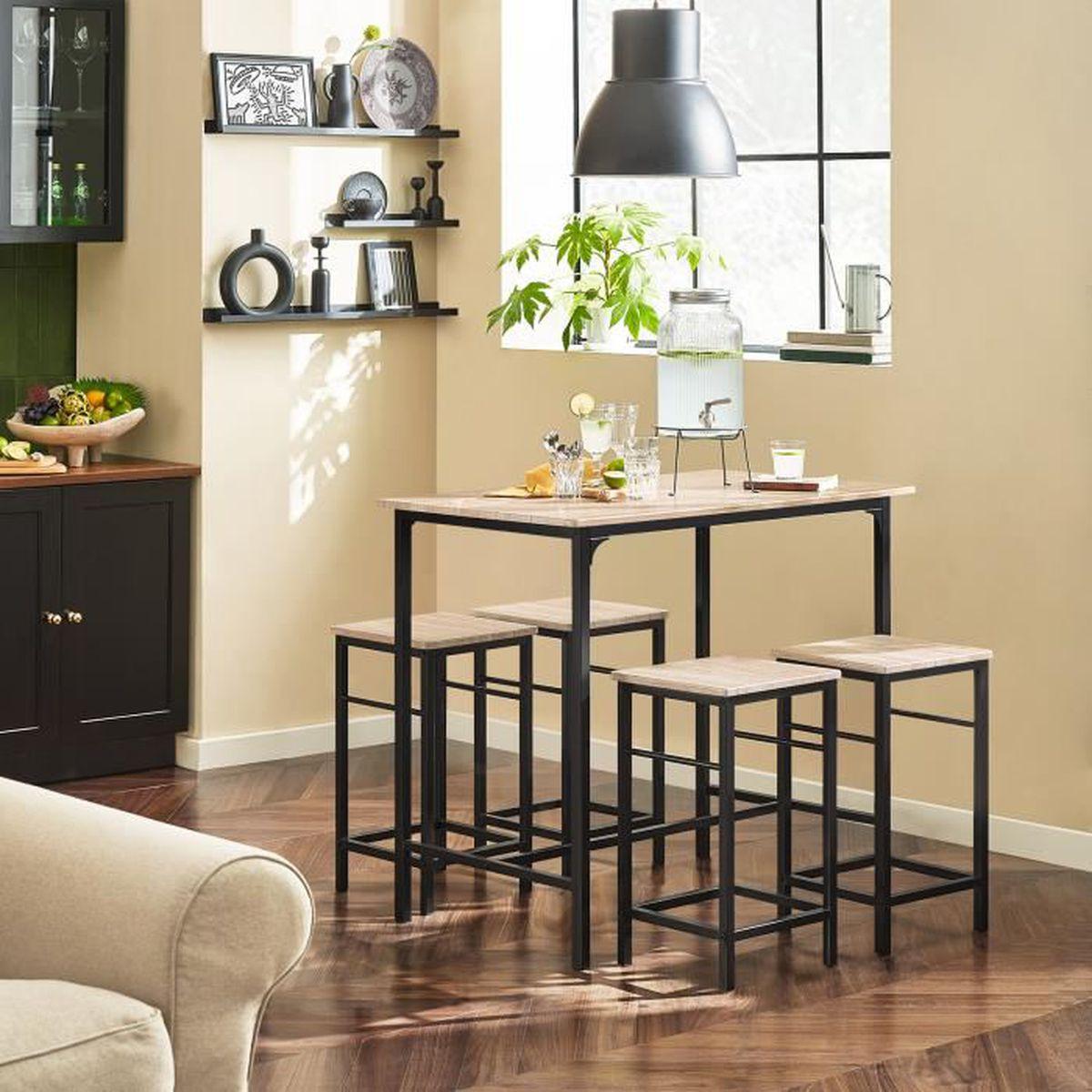 Table haute bar cuisine avec tabouret