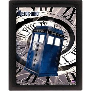 Cadre 3D Doctor Who Lenticulaire tardi time spiral