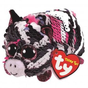PELUCHE Peluche Teeny Ty flippables sequins Zoey le zèbre