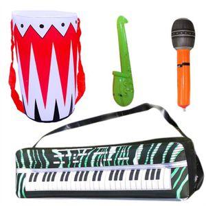 INSTRUMENT DE MUSIQUE 4pcs instruments gonflables jouet batterie tambour