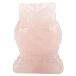 GRAVEUR POUR VERRE NAKESHOP cristal rose quartz sculpté en forme de h