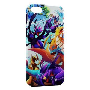 COQUE - BUMPER Coque iPhone 5C Dracolosse Dracaufeu Pokemon Graph