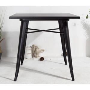 TABLE À MANGER SEULE JA STORE FR - Table industrielle FACTORY Noire en