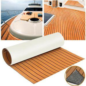 REVÊTEMENT ANTIDÉRAPANT 2300x890x6mm Marron EVA Teak Boat Tapis Teck Feuil
