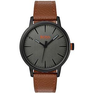 PACK MONTRE montre hugo boss orange 1550054 - montre cuir marr