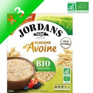 GALETTES RIZ - MAÏS JORDANS Flocons d'Avoine Bio gains entiers - 500 g
