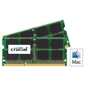 MÉMOIRE RAM Crucial kit 8Go DDR3 1333MHz    CT2C4G3S1339MCEU