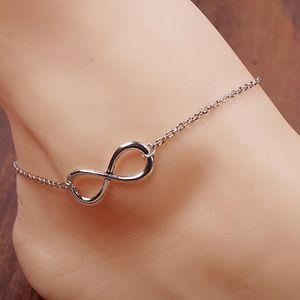CHAINE DE CHEVILLE Huit en forme de main debout bracelet de cheville
