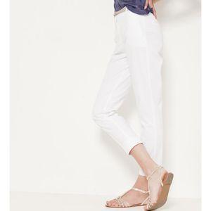 PANTALON Camaieu - Pantalon femme 7/8 BOLID BLANC