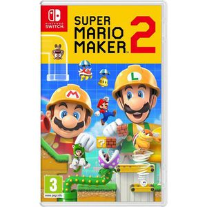 JEU NINTENDO SWITCH Super Mario Maker 2 Jeu Switch + 1 Figurine + 1 Po