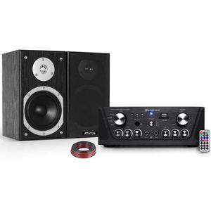 AMPLIFICATEUR HIFI Amplificateur Skytronic karaoké noir USB-SD-FM 160