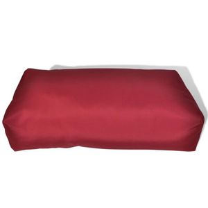 COUSSIN D'EXTÉRIEUR Coussin pour le dos 80 x 40 x 20 cm Rouge vineux
