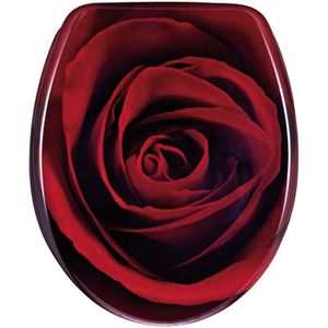 Abattant toilette WC baccara rose rouge