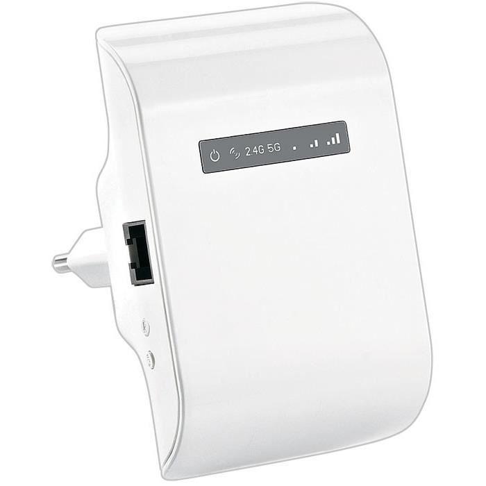 Répéteur wifi 600 Mbps ''Wlr.600 ac'' avec bouton Wps